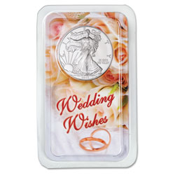 2013 Silver American Eagle in Wedding Wishes Showpak