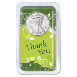 2013 Silver American Eagle in Thank You Showpak