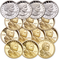 1979-2009 Proof Deluxe Small Dollar Set (14 coins)