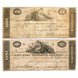 1811-1816 $5 & $10 Kentucky Insurance Company Note Set