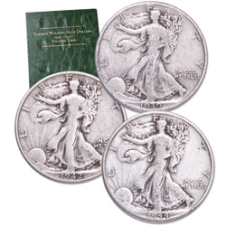 1916-1947 PDS Liberty Walking Half Dollar Set