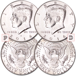 2014 P&D Kennedy Half Dollars