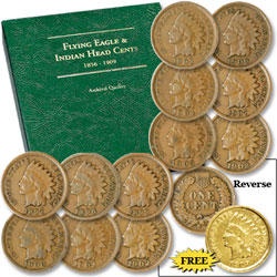 1897-1908 Indian Head Cent Set (12 coins)