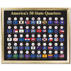 50-Coin Framed Display Board