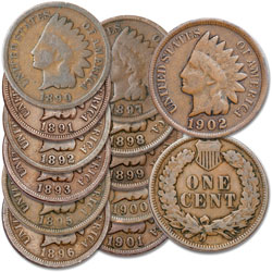 1890-1902 Indian Head Cent Set (12 coins)