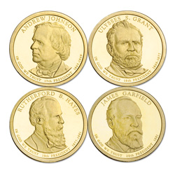 2011-S Presidential Dollar Proof Year Set (4 coins)