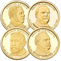 2012-S Presidential Dollar Proof Year Set (4 coins)