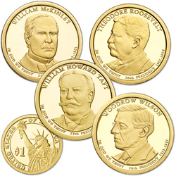 2013-S Presidential Dollar Proof Year Set (4 coins)