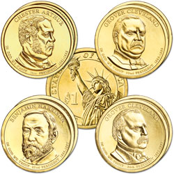 2012 Presidential Dollar P&D Mint Set (8 coins)