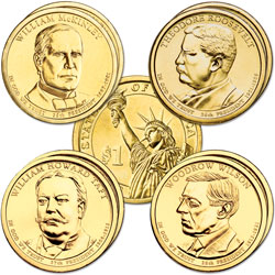 2013 Presidential Dollar P&D Mint Set (8 coins)