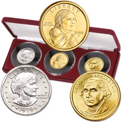 1979-2007 First Issues of all 3 Small-Size U.S. Dollars