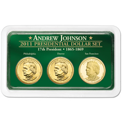 2011 Johnson Presidential Dollar in Exclusive PDS Showpak