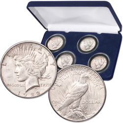 1922-1925 Peace Silver Dollar Set
