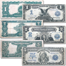 1899 Silver Certificate Set $1,2,5
