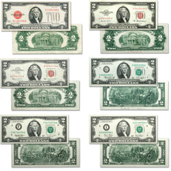 1928-2003 Small-Size $2 Notes Collection