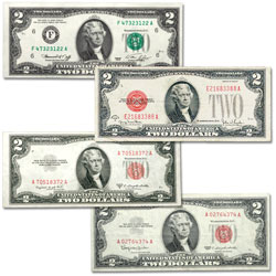 1928-1976 Complete Small-Size $2 Note Type Set