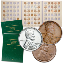 1909-1955 Lincoln Cent Collection (42 coins) with 2 Folders