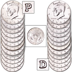 2002-2013 P&D Kennedy Half Dollar Set (24 coins)