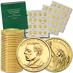 2007-2013 Complete P&D Presidential Dollar Set (56 coins) with Album