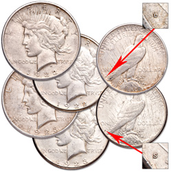 1922-1923 D&S Peace Dollar Set (4 coins)