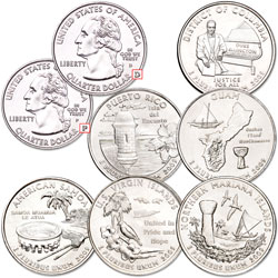 2009 P&D D.C. & U.S. Territories Quarter Set (12 coins)
