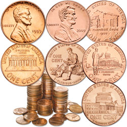 1959-2009 Lincoln Cent Set (100 coins)