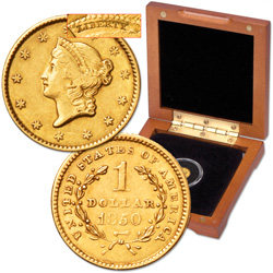 1850-1853 Liberty Head Gold Dollar (Type 1)