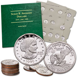 79-99 Dollar Set With Album (15 coins)