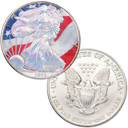 2013 Colorized & Hologram Silver American Eagle