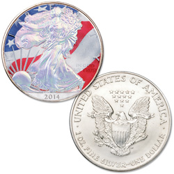 2014 Colorized & Hologram Silver American Eagle