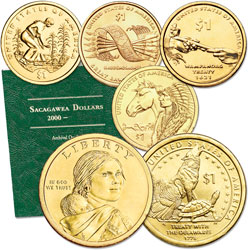 2009-2013 P&D Native American Dollar Set (10 coins) with Folder