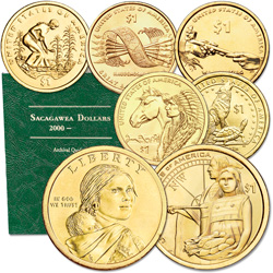 2009-2014 P&D Native American Dollar Set (12 coins) with Folder
