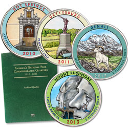 2010-2013 Colorized National Park Quarter Set with Folder (20 coins)