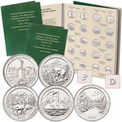 2010-2011 P&D National Park Quarters (20 coins) with Folders