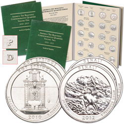 2010-2012 P&D National Park Quarters (30 coins) with Folders