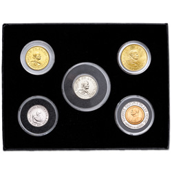 1990-2000 Vatican City Pope John Paul II Coin Set (5 coins)