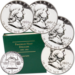 1960-1963 Franklin Half Dollar Proof Collection