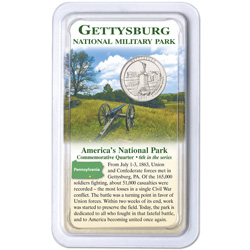 2011 Gettysburg National Park Quarter in Showpak, Uncirculated, MS60