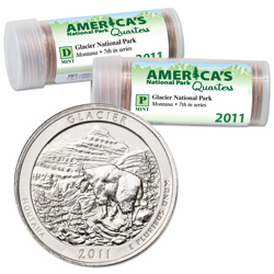 2011 P&D Glacier America's National Park Quarter Roll Set (80 coins)