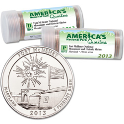 2013 P&D Fort McHenry National Monument and Historic Shrine Quarter Roll Set (80 coins)