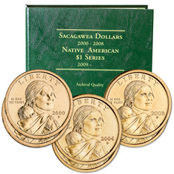 2000-2008 Complete P&D Sacagawea Dollar Set with Album