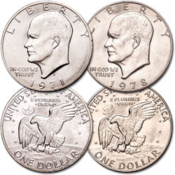 1971-1978 First and Last Eisenhower Dollar Set