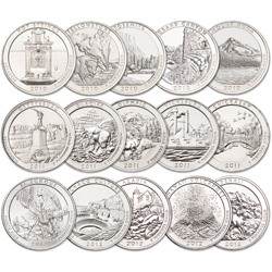 2010-2012 National Parks Quarter Set (15 coins)