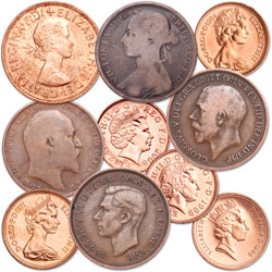 1895-Date Last 10 Pennies of Great Britain