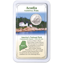 2012 Acadia National Park Quarter in Showpak