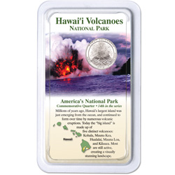 2012 Hawai'i Volcanoes National Park Quarter in Showpak