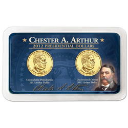 2012 P&D Chester A. Arthur Presidential Dollar Showpak