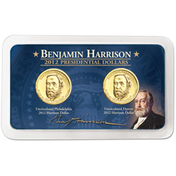 2012 P&D Benjamin Harrison Presidential Dollar Showpak