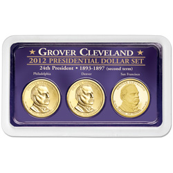 2012 Grover Cleveland (Term 2) Presidential Dollar in Exclusive PDS Showpak