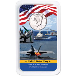 2013 Kennedy Half Dollar in U.S. Navy Showpak